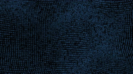 Blue letters wave background surface loop