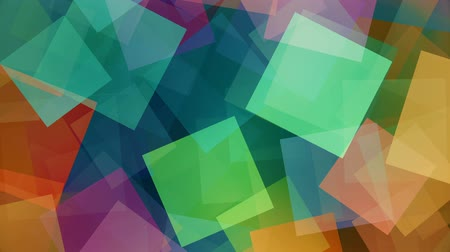Colorful rotating squares background loop