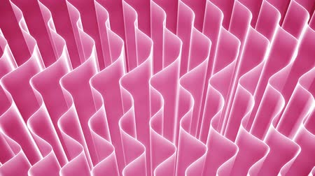 Abstract curved pink veils background loop