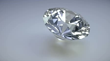 Diamond isolated on a white background photo realistic 3d render loop
