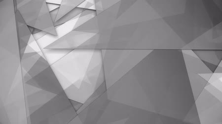 Rotating trasparent gray triangles background loop