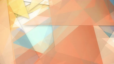 Rotating transparent colorful triangles background loop