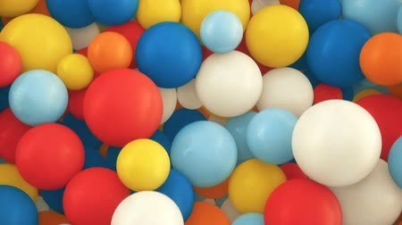 physically : Colorful 3d falling spheres background Stock Footage