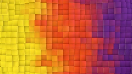 Yellow to purple Gradient evolving cubes wall loop