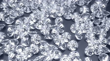 refractive : Shiny diamonds flowing on an iron background 3d render