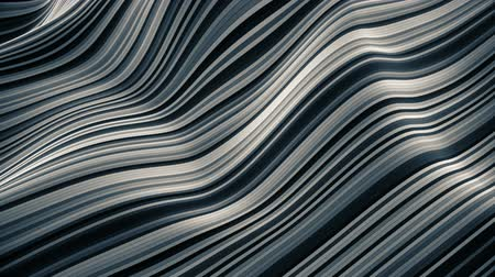 Thin stripes waving modern isometric background loop