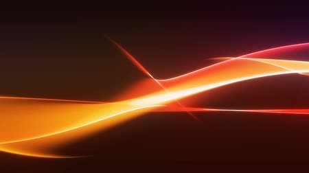Colorful evolving smooth orange and red curved lines moving sideways background loop Stock mozgókép