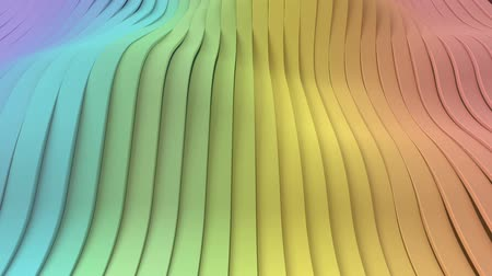 Wavy rainbow gradient vertical stripes looping background