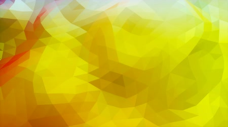 Red to yellow green gradient low poly evolving looping surface Stock mozgókép