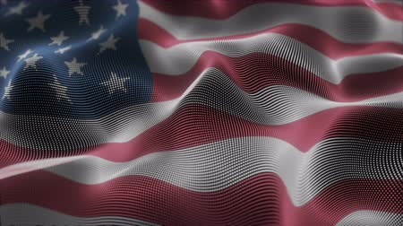 čtvrtý : Closeup of a digital waving american flag looping Dostupné videozáznamy