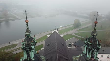 クラクフ : Krakow, veil of mist covered the town 動画素材