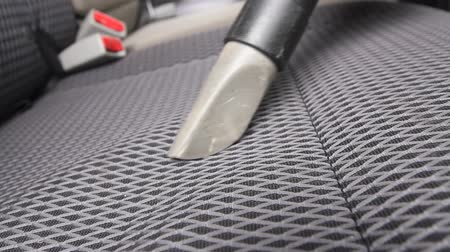 vakum : Chemical cleaning of Cars interior textile seats with professionally vacuum cleaner