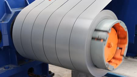 roll up : Slit steel sheet (silicon steel) roll take-up turning