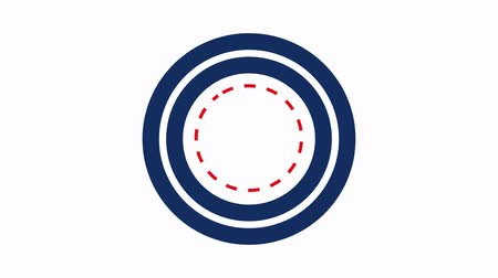 alacsonyabb : Trim path circles red white and blue on white 4K