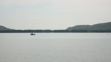 Fishing boat in the sea Stok Video