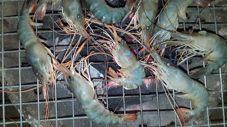 kalmar : Grilled seafood on charcoal grills