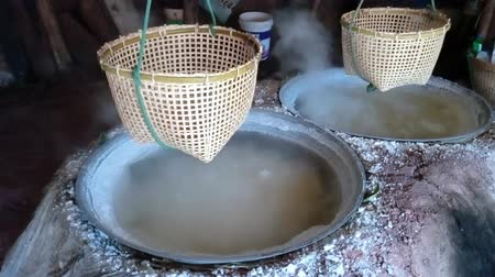 Traditional production of salt
