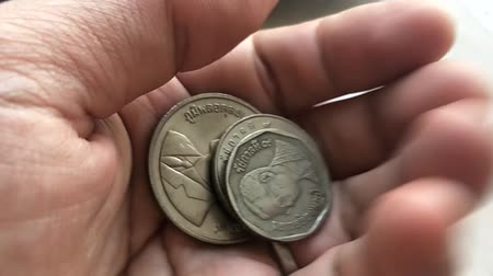Coins Thai is old. more than 40 years old. Wideo