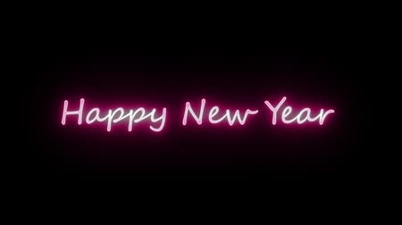 Happy New Year 2019. Text For Editing Video.