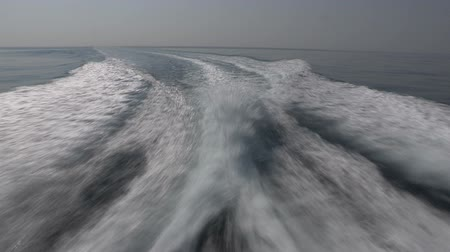 probudit : Wash wake of a boat on the mediterranean sea