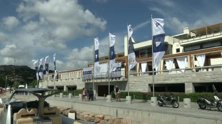 prestigious : Front view of Yacht Club Costa Smeralda during Perini Navi Cup on August 30 2013 in Porto Cervo Italy