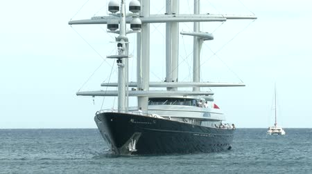 prestigious : Maltese Falcon Perini maxi yacht docked during Perini Navi Cup on August 30 2013 in Porto Cervo Italy