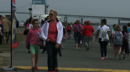 rhode : People attend the Volvo Ocean Race on May 16, 2015 in Newport, RI, USA Stock Footage