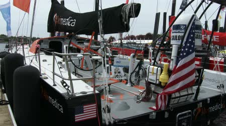 rhode : Alvimedica boat docked During the Volvo Ocean Race on May 16, 2015 in Newport, RI, USA