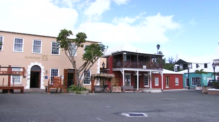 bermudas : Main plaza of the small town of St. George, Bermuda