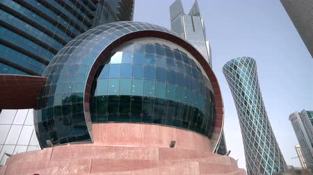 dünya mirası : Sphere at the bottom of the world trade center in Doha Qatar