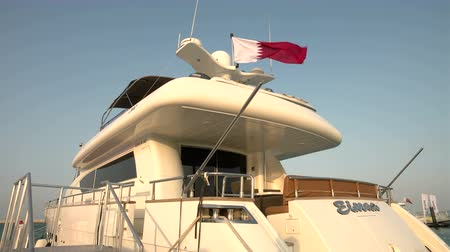 bogaty : Luxury maxi yacht docked in Lusail City, Qatar During International Boat Show