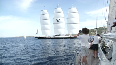 prestigious : Maltese Falcon maxi yacht navigates during the Perini Navi Cup regatta