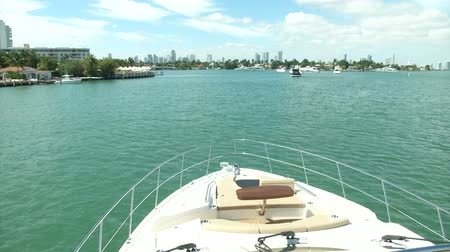 mariner : On board view of a boat navigating slowly in Miami