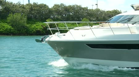 mariner : Detail of luxury luxury boat cruising in Miami