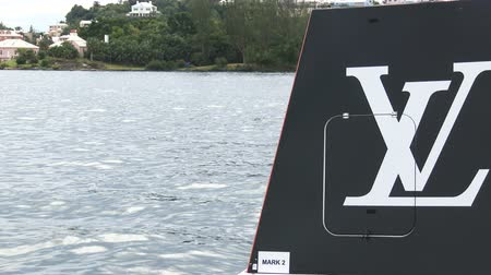 bermudas : Americas Cup sailing series buoy in Bermuda, ready for regatta