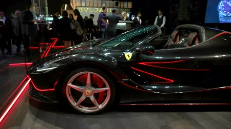 ferrari : Ferrari exhibited at Hublot booth at Baselworld watches and jewelry show in Basel, Switzerland.