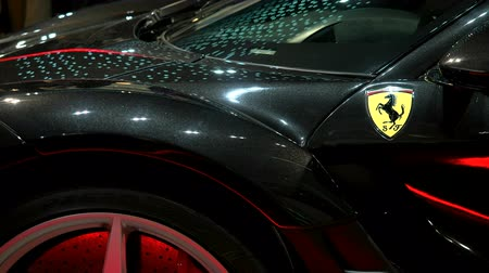 ferrari : Detail of Ferrari exhibited at the Hublot booth at Baselworlds watches and jewelry show in Basel, Switzerland.
