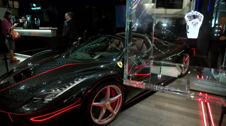 booth : Ferrari exhibited at Hublot booth at Baselworld watches and jewelry show in Basel, Switzerland.