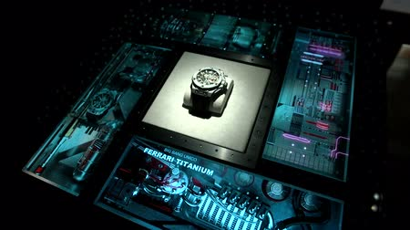 ferrari : Ferrari watch exhibited at the Hublot booth at Baselworlds watches and jewelry show in Basel, Switzerland.