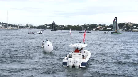 bermudas : Race field of Americas Cup World Sailing Series in Hamilton, Bermuda Vídeos