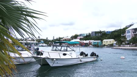 dockyard : Boats docked in small bay in Flatts Village, Bermuda