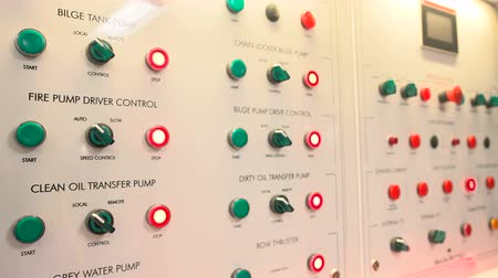 Electrical panel in the engine room of a maxi yacht