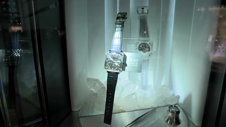 sklizeň : Tourbillon luxury watch exhibited at the Bell and Ross booth at Baselworlds watches and jewelry show in Basel, Switzerland. Dostupné videozáznamy