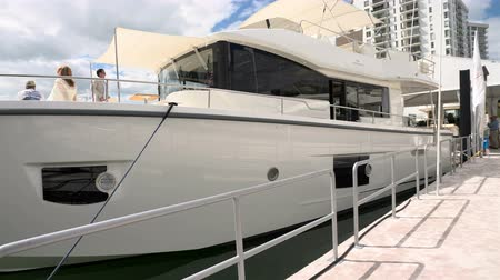 mariner : Boat docked in Miami during Miami International Boat Show in 2014