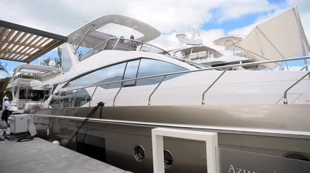 mariner : Yacht docked in Miami during Miami International Boat Show in 2014