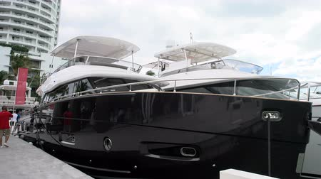mariner : Yachts docked in Miami during Miami International Boat Show in 2014
