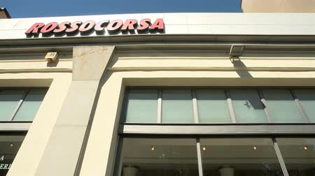 beygir gücü : Establishing shot of Rossocorsa, a car dealer specializing in luxury brands, in Milan, Italy