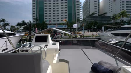 mariner : Upper deck of a luxury yacht docked in Miami