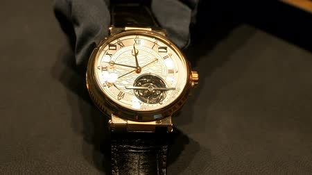 Tourbillon luxury watch exhibited at Breguet booth at Baselworlds watches and jewelry show in Basel, Switzerland.