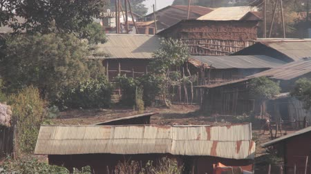 Typical village homes found in rural part of Ethiopia, Africa